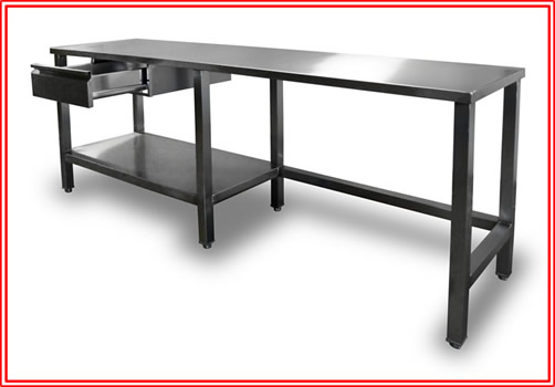 FMBE Stainless Bakers Work Table   36 In. X 96 In.