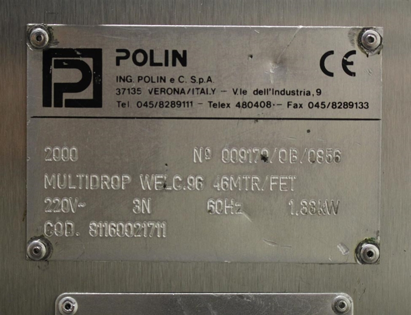 polin multi drop cookie machine