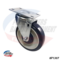 "Small Plate, Medium Duty Caster 5"" x 1.25"" Wheel"