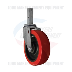 "Heavy Duty Stem Caster 5"" x 1-3/8"" Wheel"