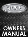 Acme Bench Dough Roller Owner Manual