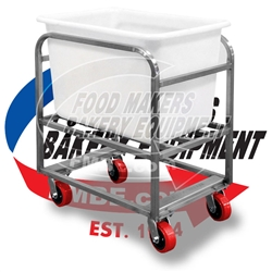 Stainless Steel Dough Bin Cart