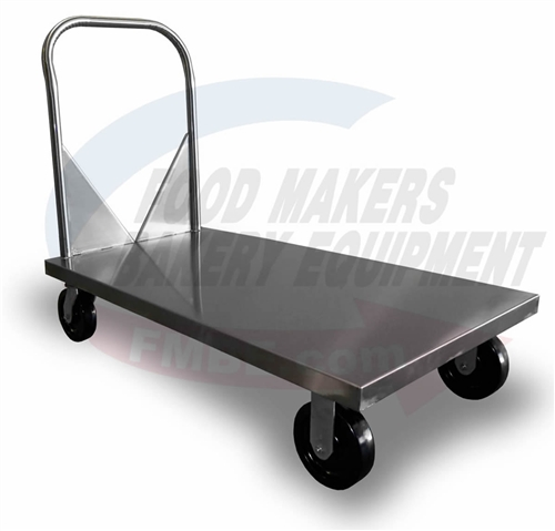 Stainless Flat Bed Utility Cart