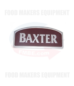 Baxter Steel Name Plate.