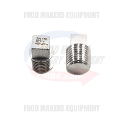 "1/4"" Thread Pipe Fitting Square Head Plug. 150 PSI."