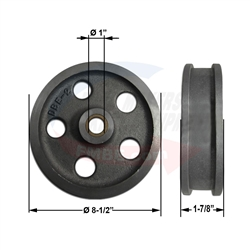 LC Bakery  LCT-4T-201RS Guide Wheel Stabilizer