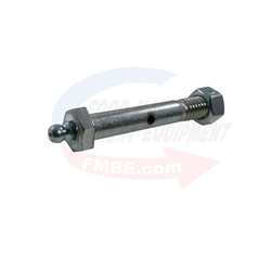 High Temperature Wheel Axle & Nut w/ Zerk Fitting