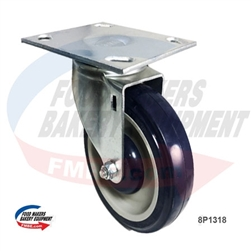 "Large Plate, Medium Duty Caster 5"" x 1.25"" Wheel"