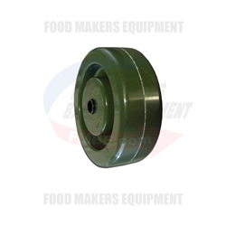 "High Temperature GREEN Oven Rack Wheel . 4"" x 1-1/2"". 3/8"" Bore"