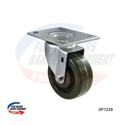 High Temperature Oven Caster FME Standard Green. - Large Size Plate