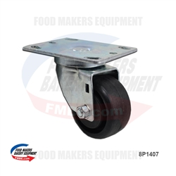 High Temperature Oven Caster - Medium Size Plate.