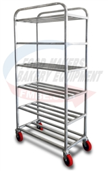 Aluminum 6 Shelf Platter Rack