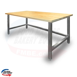 "30"" W x 36"" L Maple Top Table"
