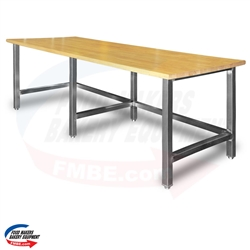 "30"" W x 84"" L Maple Top Table"